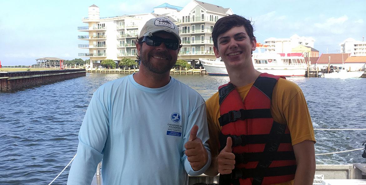 CBF Student Leader Connor Ransom on trip to Fox Island - cr Alex Quigley - 1171x593