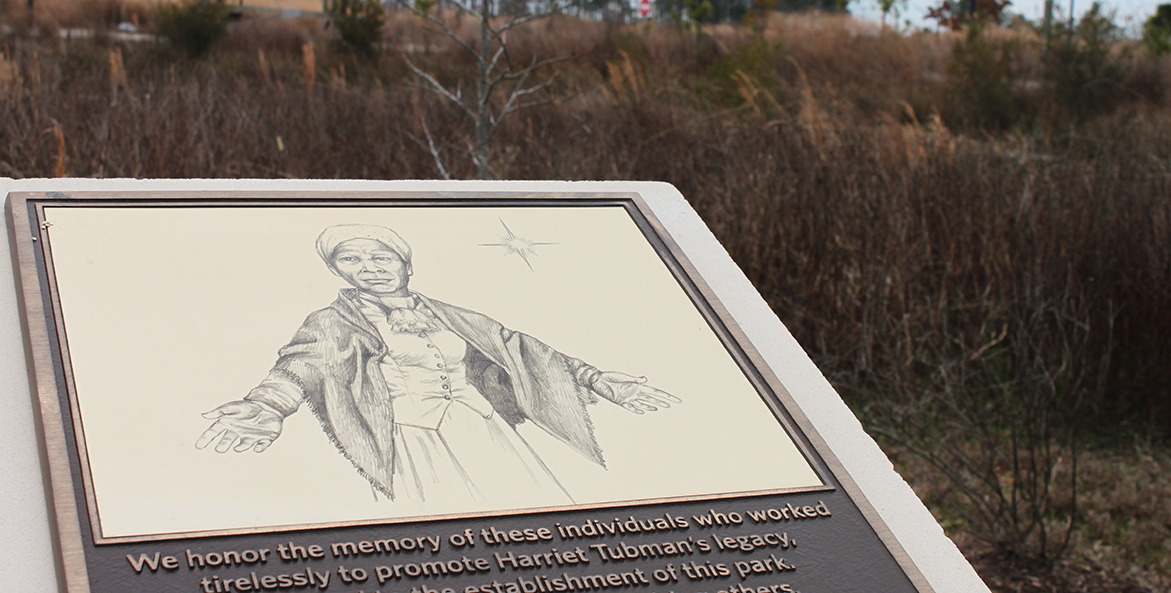 Plaque with drawing of Harriet Tubman