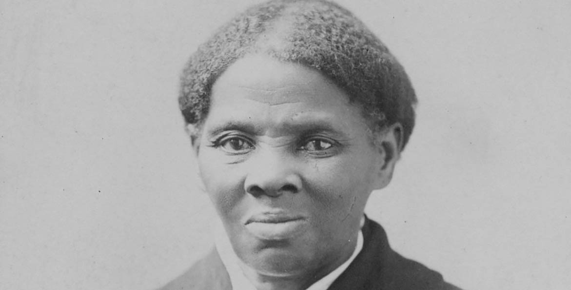 An old black-and-white photo of elderly Harriet Tubman.