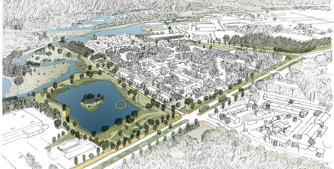 Artist's rendering of the proposed Lake Hampton EIB project.