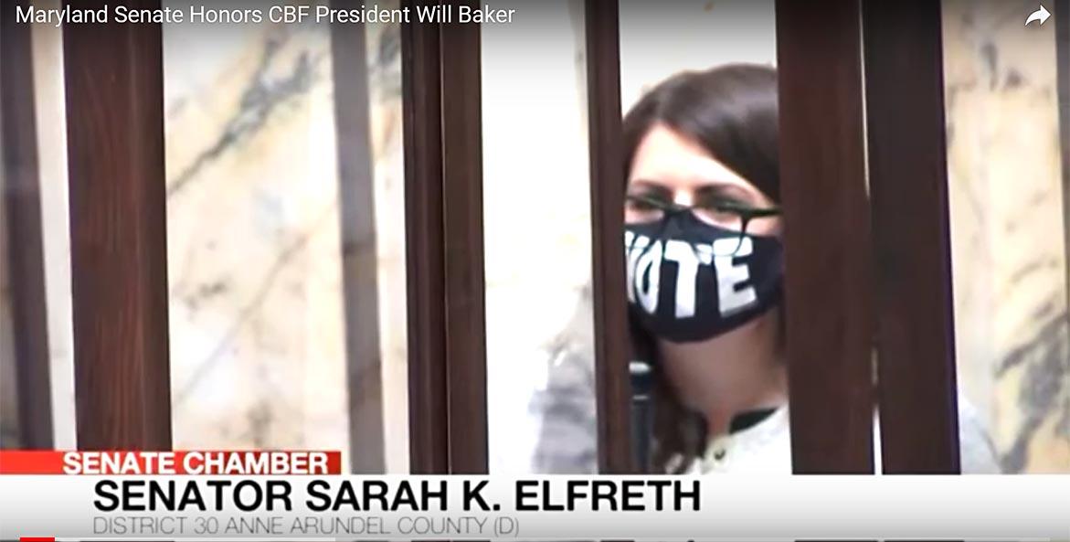Sen. Sarah Elfreth proposes resolution.