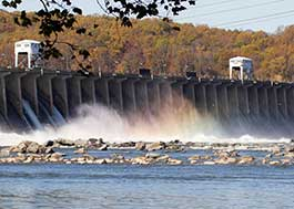 Image of the Conowingo Dam on the Susquehanna River in Maryland.