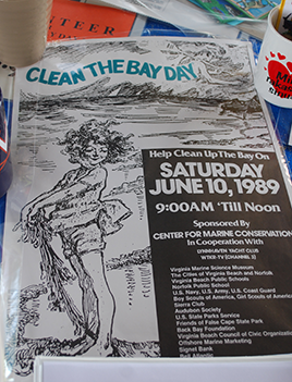 A photo of original Clean the Bay Day advertisments.