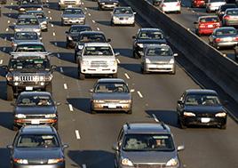 Traffic jam on an expressway.