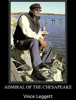 Photo of Vince Leggett on the Chesapeake Bay.