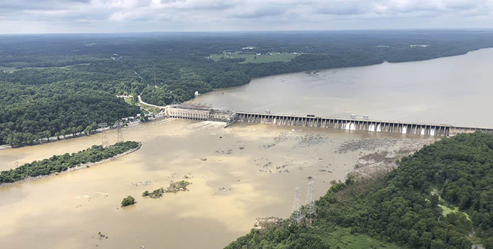 Conowingo Dam Muddy Water at Normal Flow