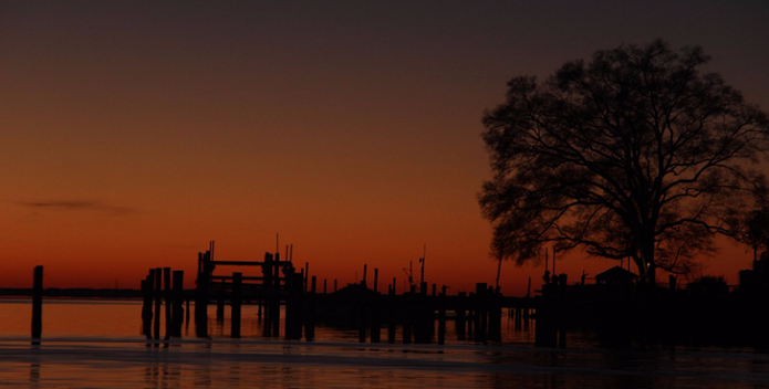 An image of a colorful Chesapeake sunrise.