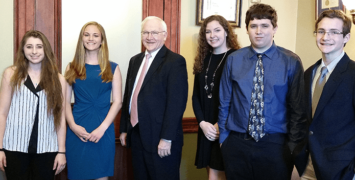 Students and PA Senator Gene Yaw - BJ Small - 695x352