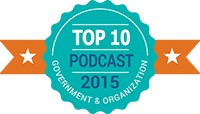 Certificate: Podbean Top 10 Government & Organization Podcasts 2015