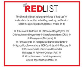 Red list materials list. Sustainable Business
