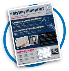 Oval image of My Bay Blueprint flyer.
