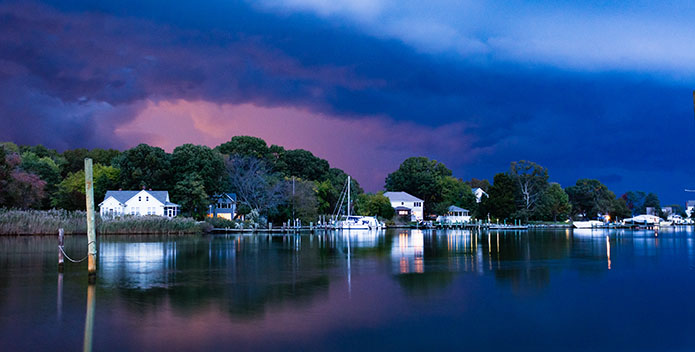 A 2017 Viewers' Choice submission shows a colorful storm brewing over Shady Side, Maryland.